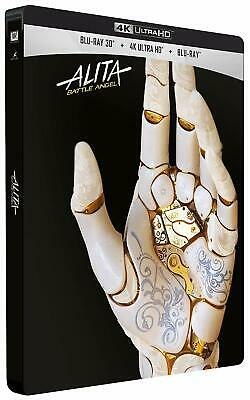 Alita: Battle Angel (4K UHD + 3D + 2D Blu-ray Steelbook) NEW / SEALED - PRE-ORDE