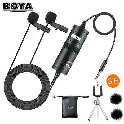Professional Lavalier Lapel Microphone Omnidirectional Mic for Computer Youtube