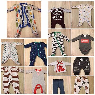 Baby Boys Size 0000 Mixed Bundle Bulk Lot Clothes