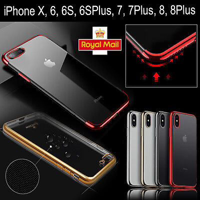 Luxury Ultra Slim Soft Bumper Shockproof Silicone Clear Case Cover for iPhone 7