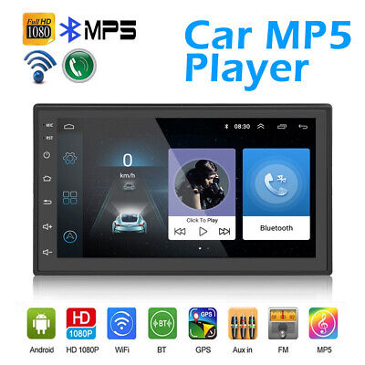 Android 8.1 Double 2Din 7in HD MP5 Player FM Radio Quad Core GPS WiFi Car Stereo
