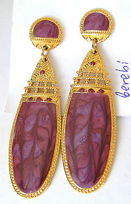 BEREBI signiert Designer Ohrstecker USA / Edgar Berebi Vintage Earrings signed