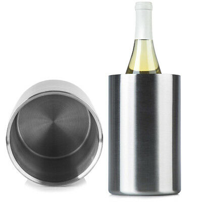 Double Layer Thickened Cylinder Insulated Home Bar Beer Cooler Ice Bucket Happy