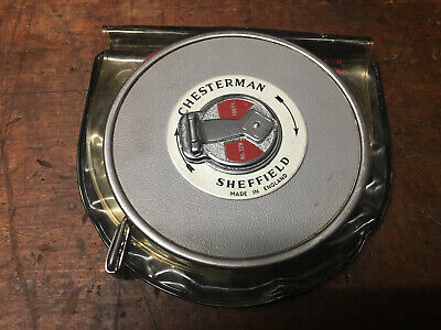 Vintage Chesterman 100ft No.22W Tape Measure Made in Sheffield,WOODWORK BUILDING