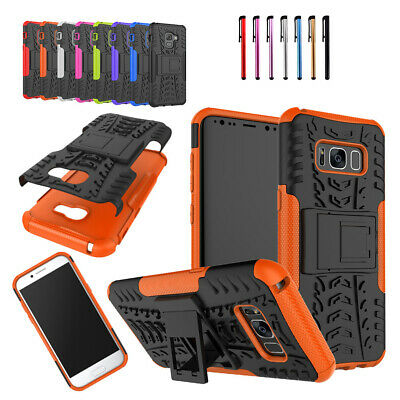 Military Shockproof Hybrid Dual Layer Stand Tough Case For Samsung Galaxy Series