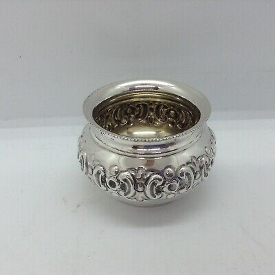 Small Antique Sterling Silver Birmingham 1911 Fancy Dish/pot