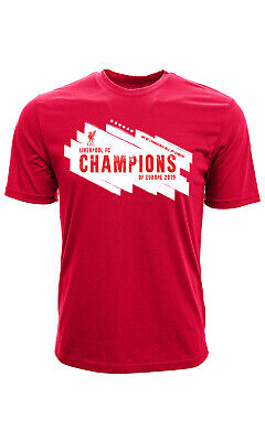 1ac80c9d889 Liverpool Fc 2019 Champion's Of Europe Adult T-Shirt Official Ships From Usa