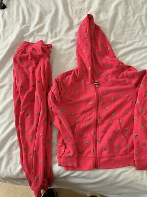 Juicy Couture Girls Tracksuit Size M (120cm)