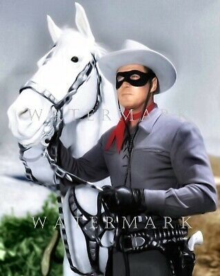 CLAYTON MOORE - Digital Oil Painting 8x10 THE LONE RANGER