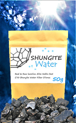 ELITE NOBLE SHUNGITE Stone Water Filter EMF Protect RAW+REAL