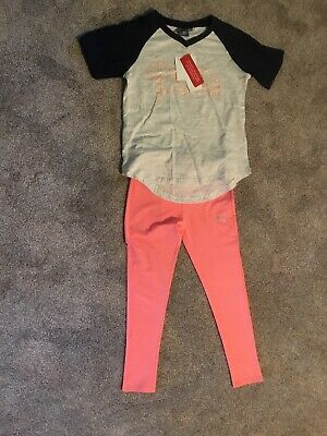 Youth girls spring summer outfit top capri pants Under Armour Puma NWT Size 6X