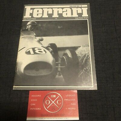 Vintage Ferrari Club France Book Magazine Brochure Rare 1978 Dino 250 275 GTB F1
