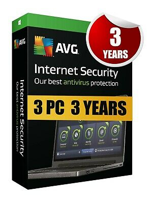 Avg Internet Security 2019 3 Pc 3 Years License Premium Key Code For Pc & Laptop