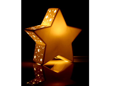 Wayfair Nightlight Sparkling Star Porcelain 26.5x 25.5cm Approx NEW (K)
