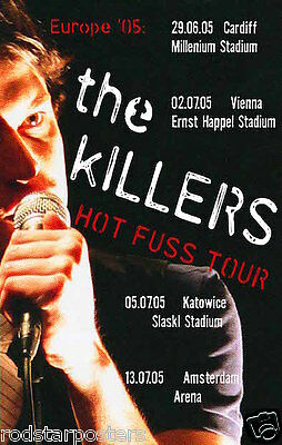 0473 Vintage Music Poster Art  - The Killers Hot Fuss Tour