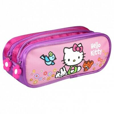 Trousse garnie enfant avec compartiments Hello Kitty rose