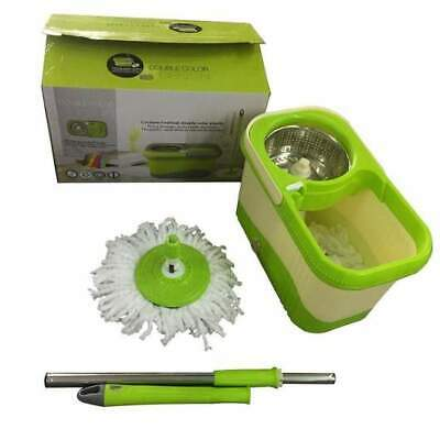 360° Rotating Spinning Mop & Bucket Super Absorbent Microfiber Home Cleaning Set