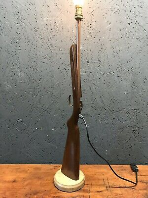 Old Rifle Stock Repurposed Into A Great Unique Lamp - PAT Tested