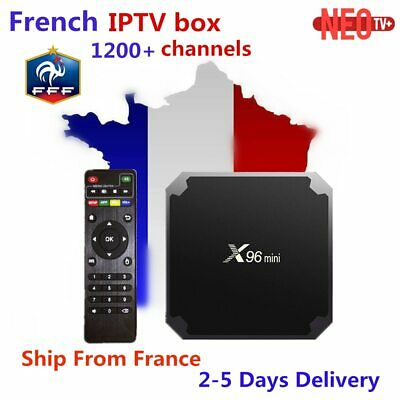 French IPTV X96 mini Android 7.1 Smart TV BOX 2G 16G 1G 8G +1200+ NEOTV Arabic