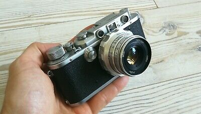 Nicca rangefinder camera with portait lens Leica Zorki LTM M39 mount