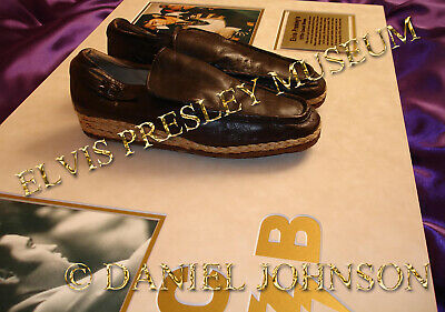 Elvis Presley owned and worn brown shoes that Elvis wore in and around Graceland