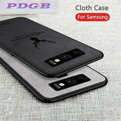 Shockproof Soft TPU Bumper Hybrid Fabric Case Cover For Samsung Galaxy S10 Plus