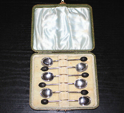 Sterling Silber 925 Set Kaffeelöffel mit Kaffeebohne in Box-Silver Coffee Spoon