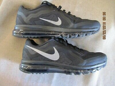 Details about Nike Air Max 2014 Black Silver Model 621077 001 Men's Size 15