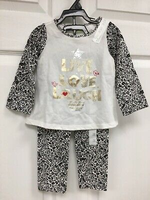 NWT First Impressions Girls Size 12 Mos 2 Piece Long Sleeve Top & Leggings Set