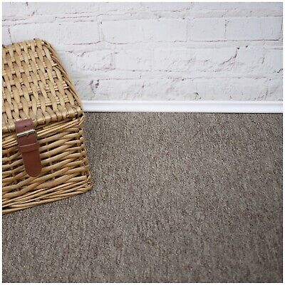 CHEAP HEAVY DUTY Light Grey Berber Loop Pile 4m Wide Carpet £3.99m²