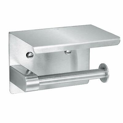 Alpine Industries Stainless Steel Single Roll Toilet Paper Holder with Shelf