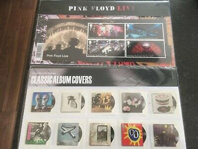 PINK FLOYD LIVE And Classic Album Covers Royal Mail Presentation Packs Mint  Cond