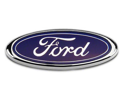 Ford Bonnet Boot Badge Transit Focus Fusion Mondeo 150MM x 60MM Blue Chrome FR2