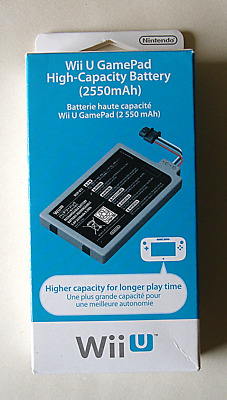 Nintendo Wii U Official Game Pad High Capacity Battery