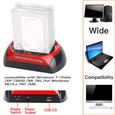 "2.5 ""3.5"" Dual Hard`Drive Docking station per HDD Lettore di schede per dock 62"