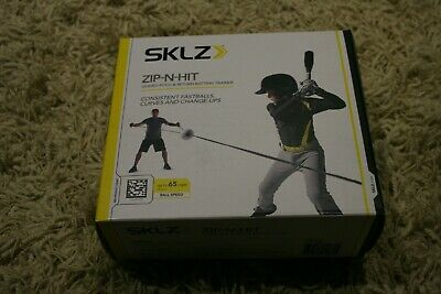 SKLZ Zip-N-Hit Baseball Training Aid Guided Pitch Return Batting Hitting Trainer