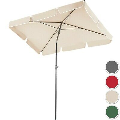 Parasol Rectangulaire de Balcon inclinable et réglable en Aluminium