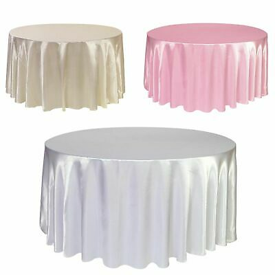 1pcs Satin Tablecloth 57''90''120'' White Black Solid Color For Wedding Birthday