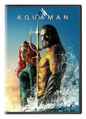AQUAMAN: (NEW SEALED DVD 2019 RELEASE) ACTION SUPER HERO (Free Fast Shipping)