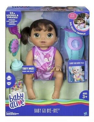 Baby Alive Baby Go Bye Bye - Brunette Hair - Officially Licensed