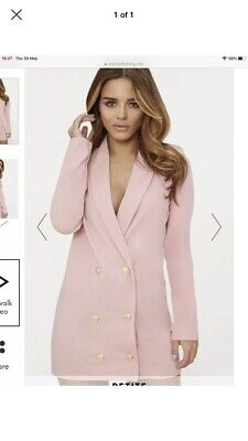 48eb9a4a15ff Pretty Little Thing Blazer Dress Bnwt Size 4-6-8 Dusty Pink With Gold