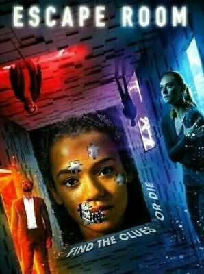Escape Room (DVD,2019) NEW- Action, Horror, Thriller- SHIPS FREE