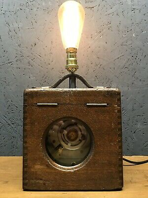 Vintage Pigeon Racing Clock Repurposed Into A Great Lamp - PAT Tested
