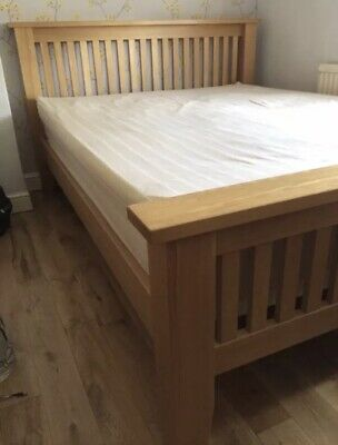 Beautiful Solid Oak King Size Bed Frame