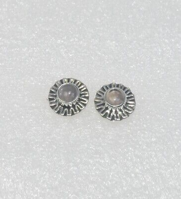 925 solid sterling silver faceted pink rose quartz,citrine mixstone stud earring