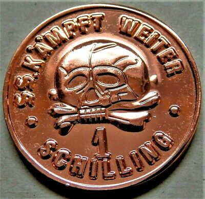 WW2 3rd REICH ERA GERMAN COLLECTORS COPPER COIN SS 1 SCHILLING KANTINEGELD