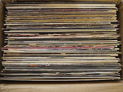 "Lot of 50 12"" Vinyl Records Disco Rap Dance Pop EDM RnB Hip-Hop FREE Shipping"