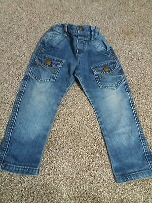 LIttle Rocha by John Rocha baby boys blue jeans 18-24 months adjustable waist