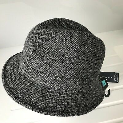 93b2b64c251b4 BNWT M&S Marks & Spencer Pure Wool Men's Grey Trilby Hat Size M 7 to 7.5