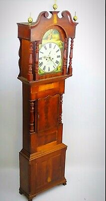 BADER OF HOLYHEAD early Victorian Mahogany 8 Day Longcase Clock